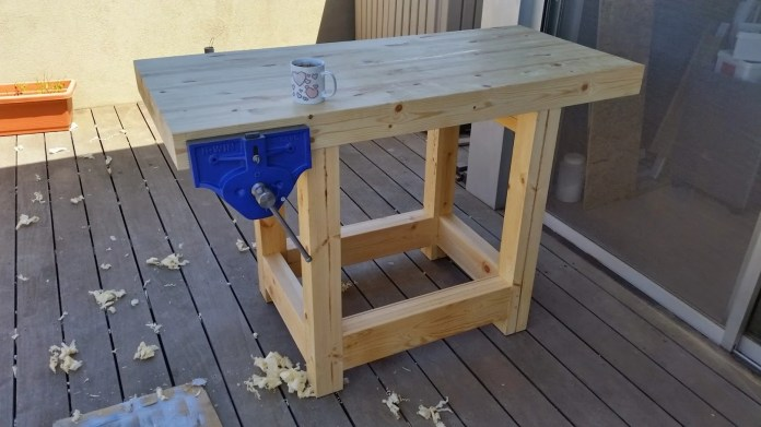 Hand built Roubo workbench by Dror Sofer, Israel