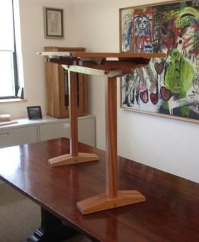 Mahogany Trestle table by Orestes Valella