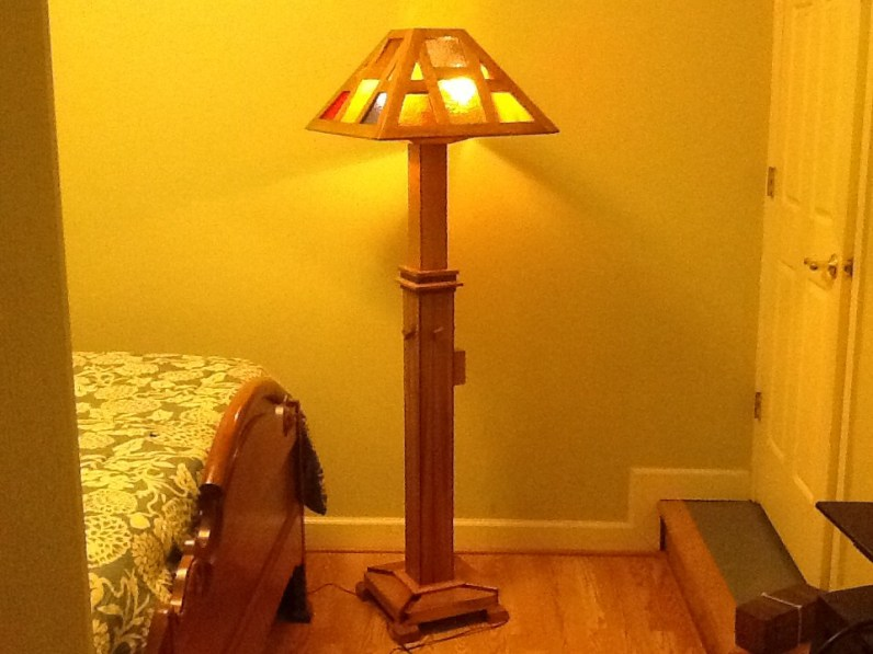 Craftsman-style Lamp by woodwrkr