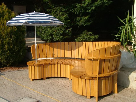 Garden bench with oak by Vargha Gyula