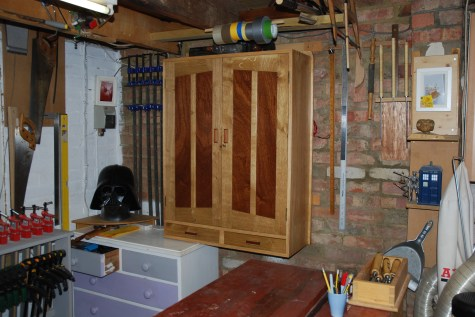 Pine Case with Oak Doors (Mahogany Panels). Made this with my daughter as part of her A Level D/T
