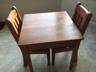Child's Table in Cherry