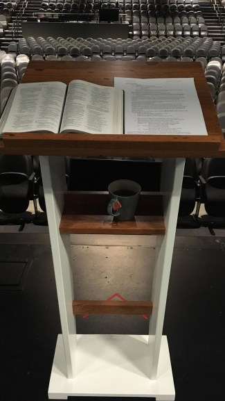Angelim Pedra & painted poplar lectern made for my son upon graduating seminary