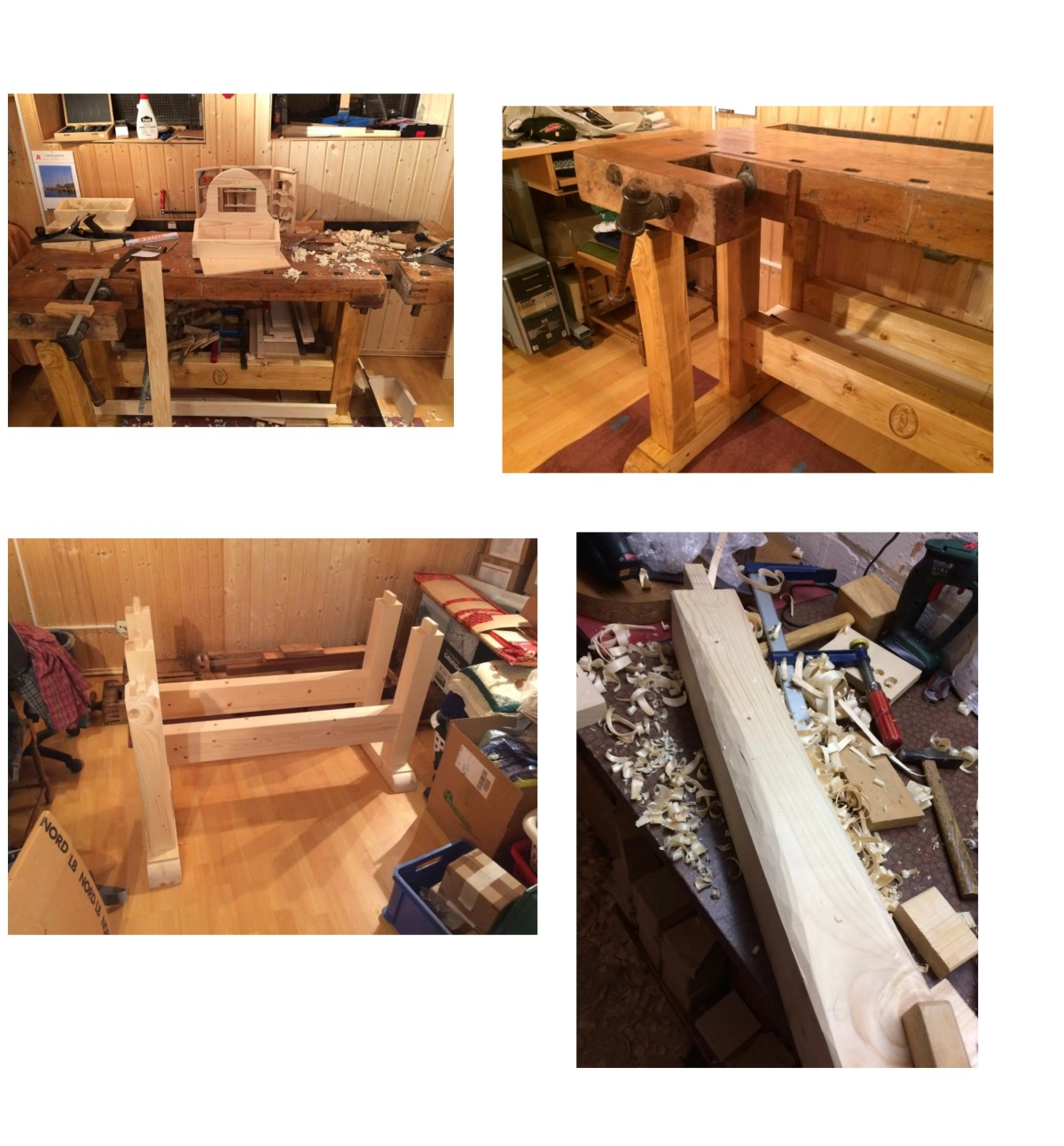 Old bench gets new legs;