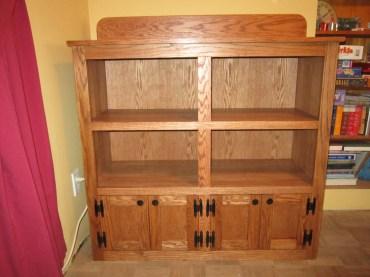 oak bookshelf cupboard oak and 3/4 oak plywood