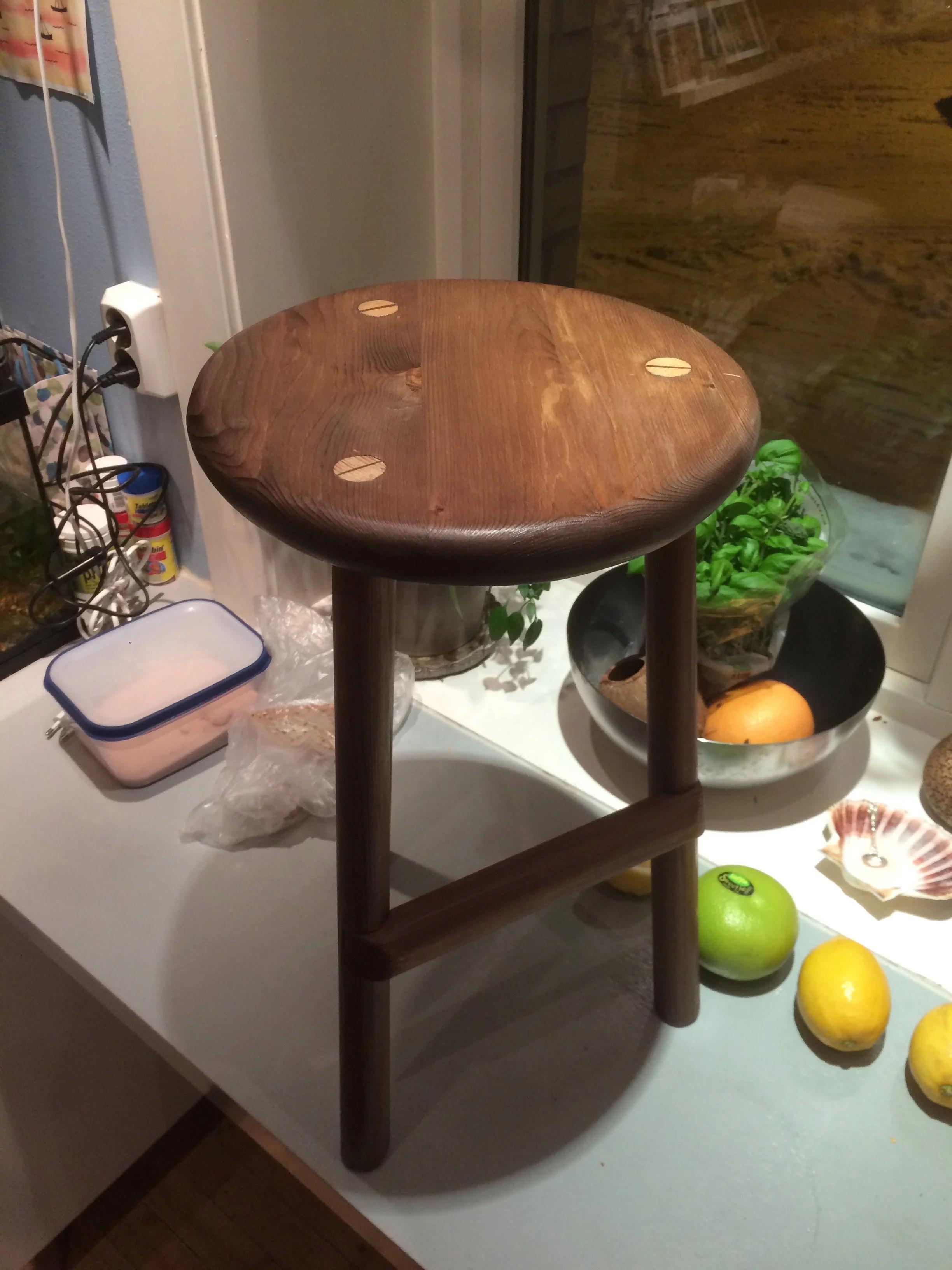 Leftovers from workbench build, spruce. Vinegar & steel finish