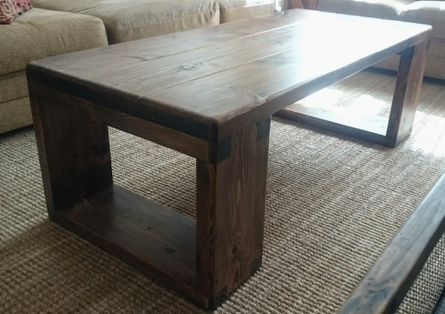 Coffee Table, Stain and Poly finish