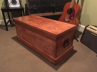 Joiner's toolbox made from pine