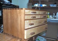 North Bennett St School tool chest. Cherry and poplar.