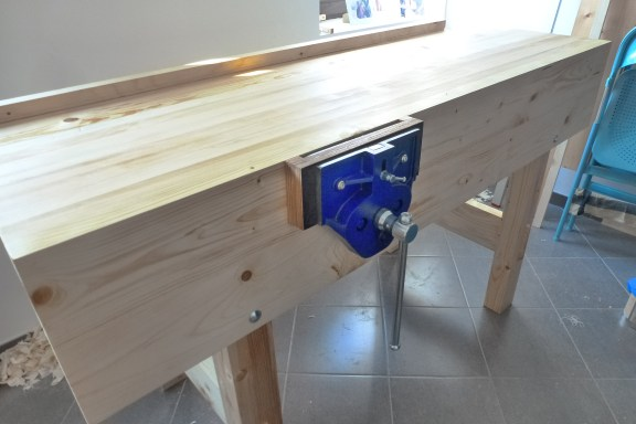 "I spent a lot of time, when I bought all tools, but thanks to the Paul I could do it and I built my first workbench. I used a Spruce, vice - YORK - HVRQ802 9"", finish - hard impregnating nature oil. Thank you for your help in this matter. Best regards, Michal from Slovakia."