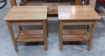 Oak and Red Elm end tables