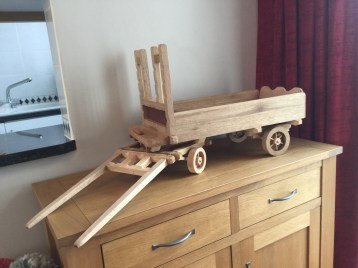 Made from various off cuts of hard wood. Finishing to follow by customer