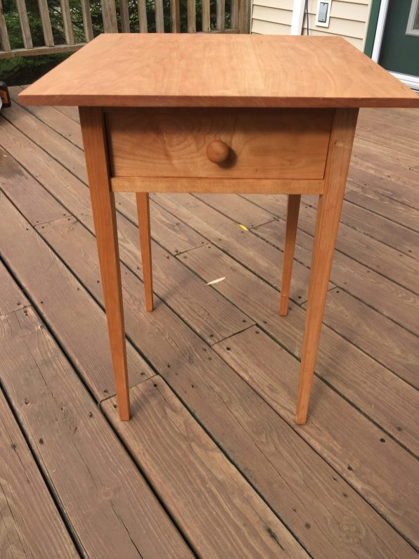 Shaker style table built from cherry.