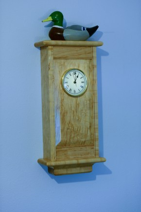 I used a well figured hard Maple for this clock