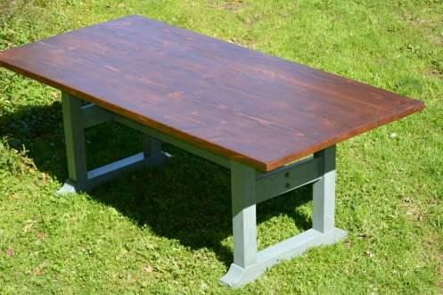 1st farm table build. 7'er for my wife.