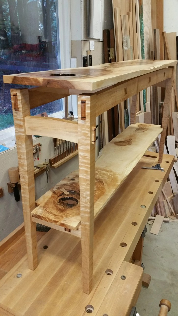 'Hole'way Table - Western Maple by dunnison