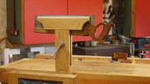 Built in oak with jaws lined with thin leather following Greg Merritt design