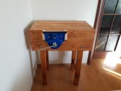 Small but study workbench made out of pine