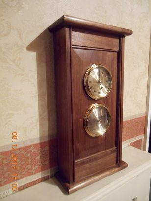 Wall or Mantel Clock in American Black Walnut