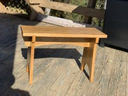 Shaker stool made from reclaimed oak stairs.