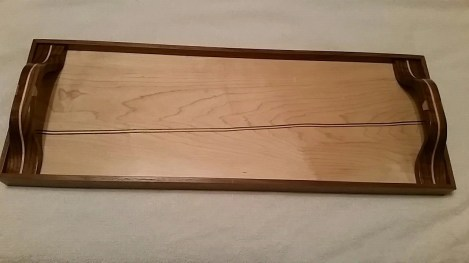 Maple and walnut serving tray