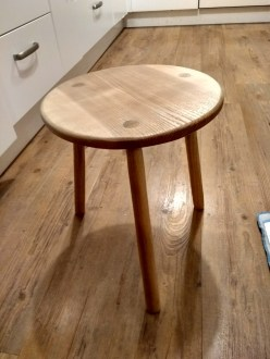 Ash three legged stool