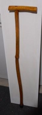 Pine Walking cane, with through tenon