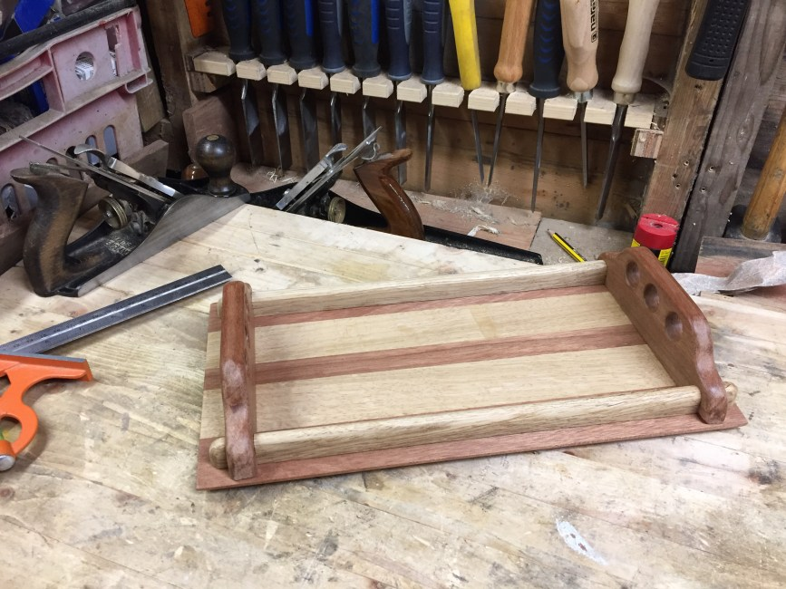 Wooden Tray by Kevin Pickup