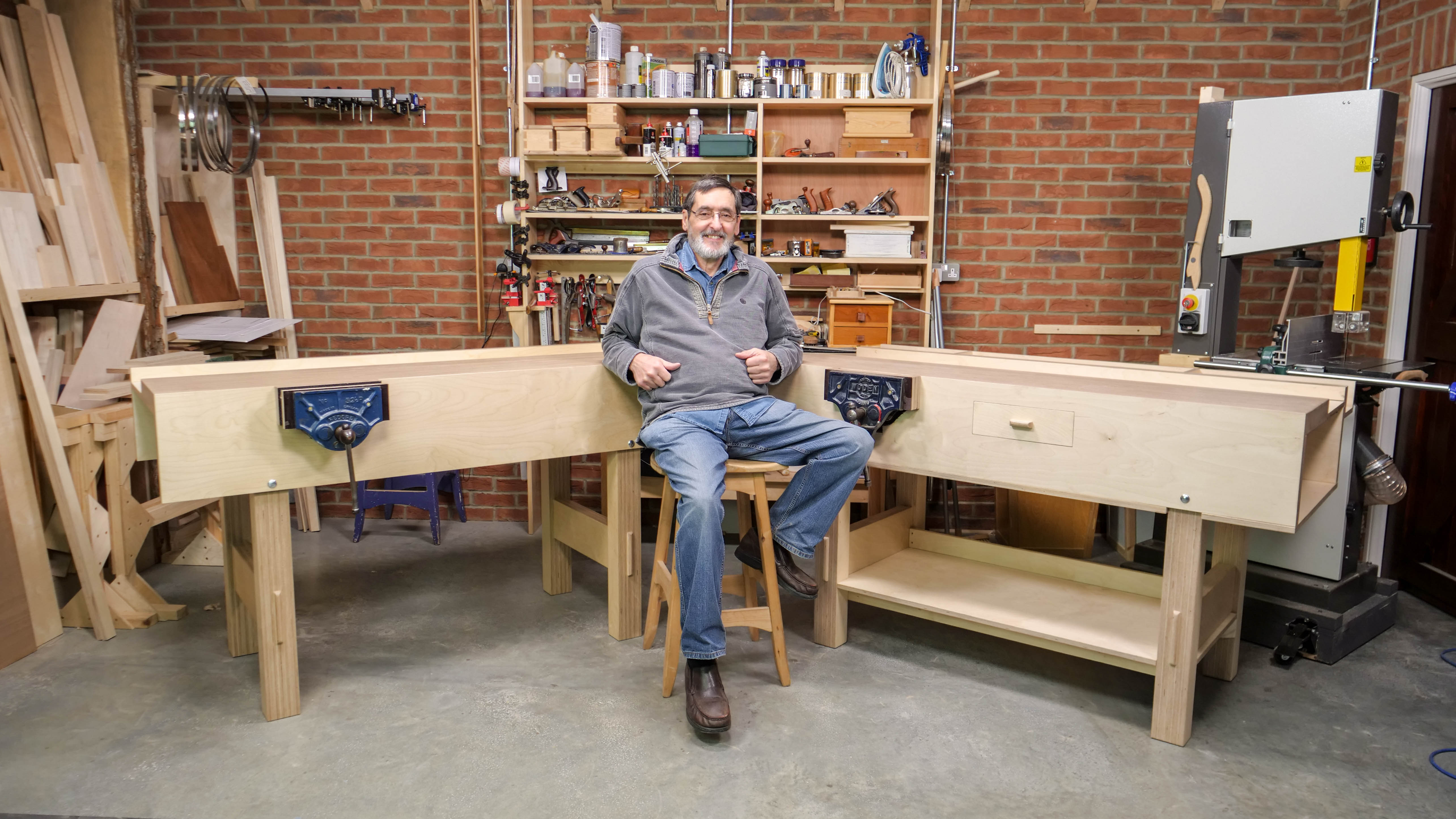plywood workbench - woodworking masterclasses