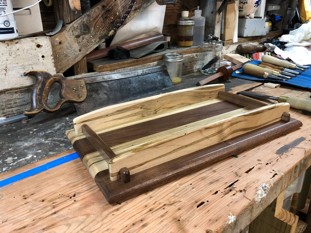Wooden Tray by Collin Gallagher