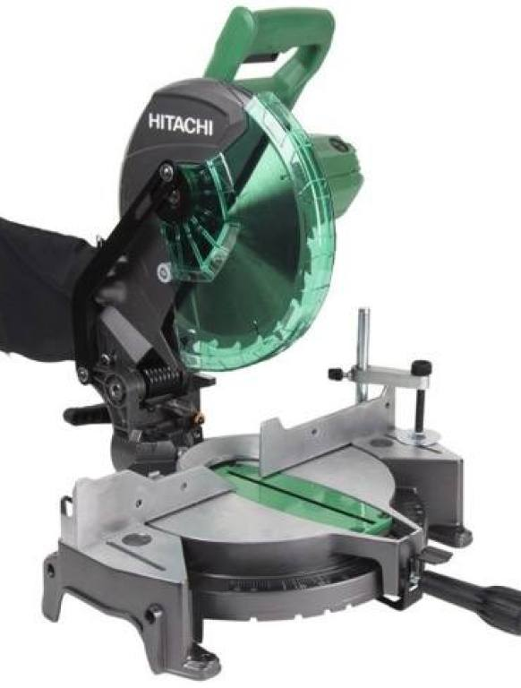 "Hitachi C10FCG 15-Amp 10"" Single Bevel Compound Miter Saw"