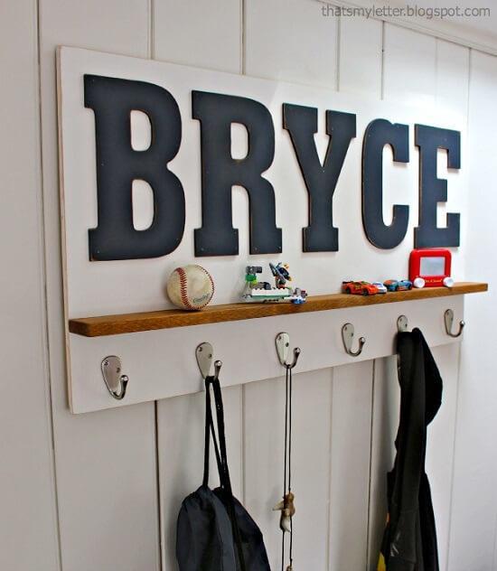 Personalized DIY Wall Shelf Tutorial