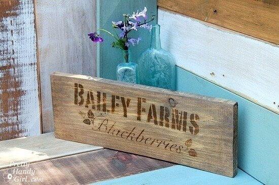 DIY Rustic Farm Crate Sign Tutorial