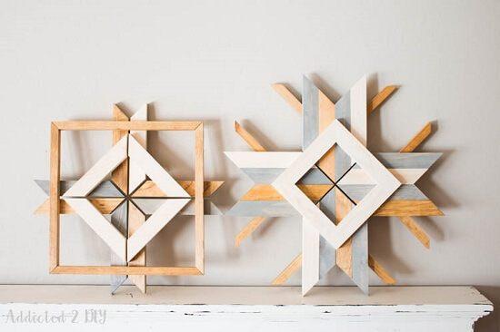 Abstract Snowflakes DIY Tutorial