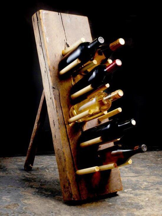 Reclaimed Lumber Wine Rack DIY Guide