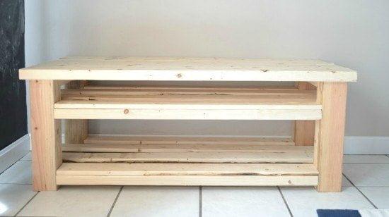 DIY Mudroom Bench Tutorial