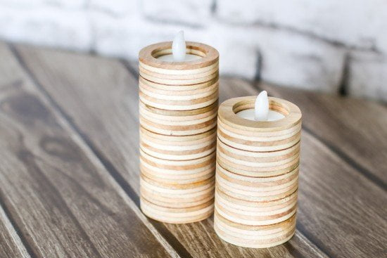 DIY Tea Light Candle Holders from Plywood Tutorial