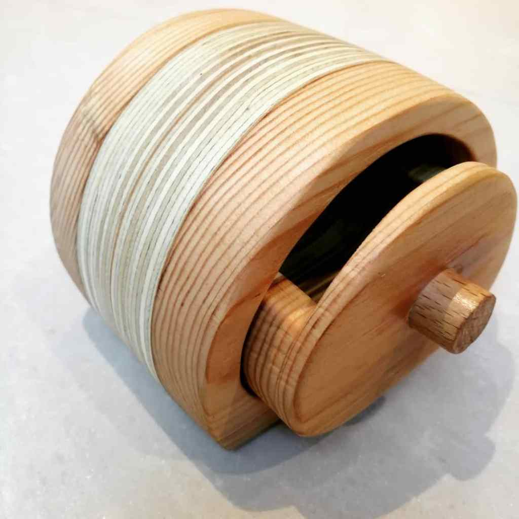 Curved wooden box