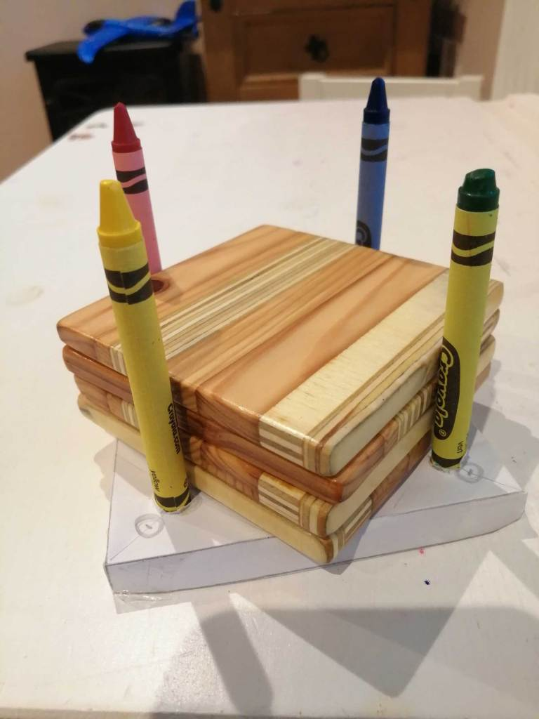 A prototype for the wood coasters