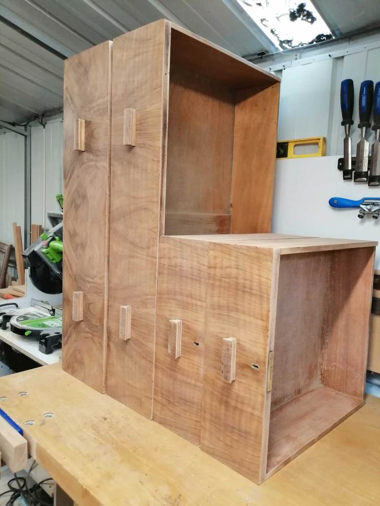 Upcycled chest of drawers - Drawers sanded