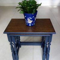 Upcycled nest of tables - Front view