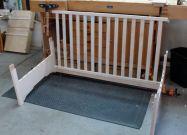 Success! measurements were correct -- crib side fits