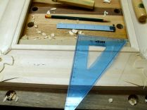 Drawing line to work to with chisels