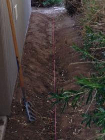 Berm complete, string line to check grade