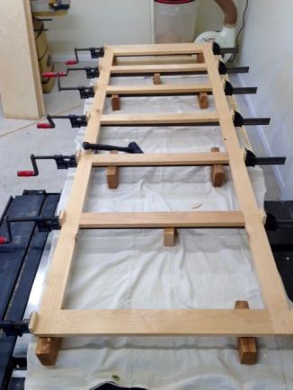 Glued and clamped up