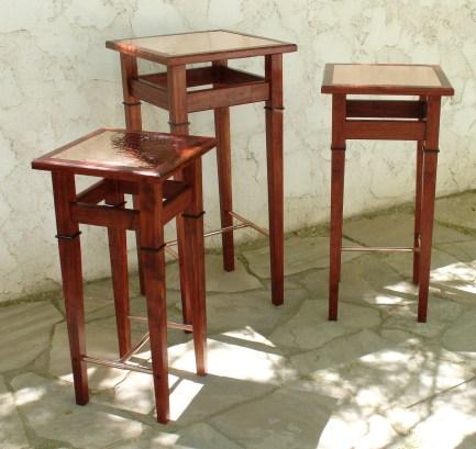 Display Tables: Bubinga & Copper