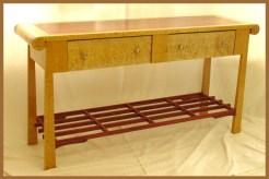 Display Table: Maple, Big Leaf Maple, & Bubinga