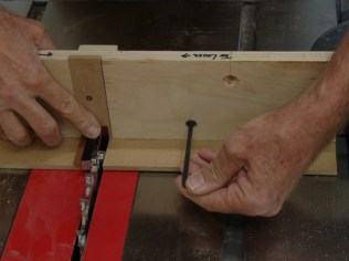 Initial set-up using 3/8 gauge block