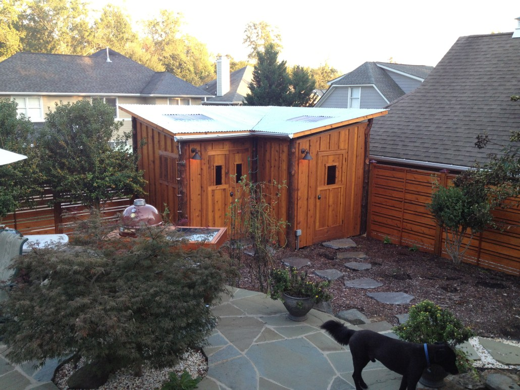 Custom outdoor shed