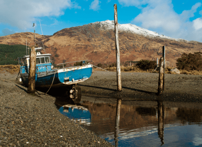 Woody Musgrove Documentary Photography Scotland Knoydart blue boat